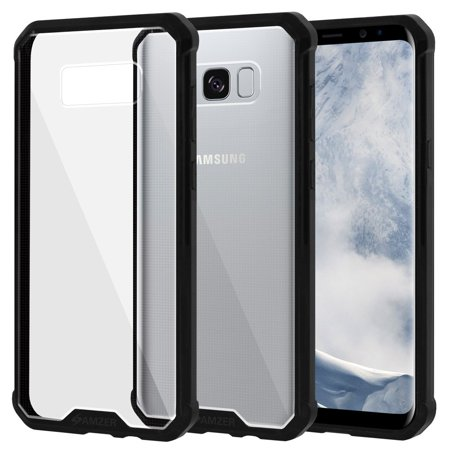 buy online 944ae c37d3 Samsung Galaxy S8 Plus Full Body ShockProof Case and Screen Protector Kit,  SlimGrip Hybrid Clear Case Black Trim Bumper with ShockProof Edge to Edge  ...