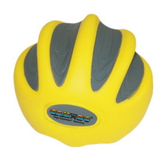 Fabrication Enterprises 10-1990 Cando Digi-Squeeze Hand & Finger Exerciser, X-Light, Yellow - Large