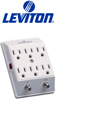 Leviton 3500-PC Micro Processor Based Equipment 6-Outlet Surge Adapter W CATV by Leviton Mfg