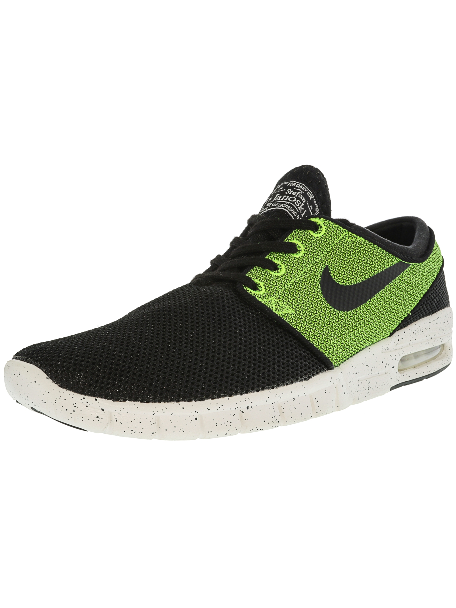 2cbf050d9659 Nike Men s Stefan Janoski Max Black   White-Deep Night Ankle-High Running  Shoe - 9.5M