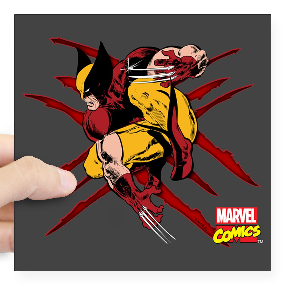 "CafePress - Wolverine Scratches Square Sticker 3"" X 3 - Square Sticker 3"" x 3"""