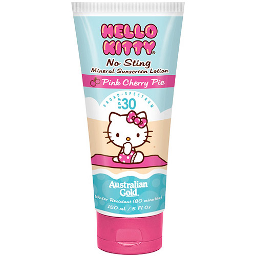 Australian Gold Hello Kitty Pink Cherry Pie No Sting Mineral Sunscreen Lotion, SPF 30, 5 fl oz