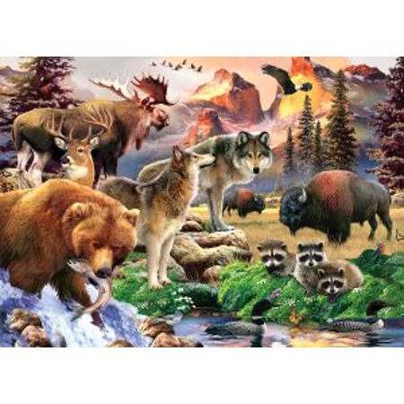 Masterpieces Animal Planet Wild America   North American Wildlife 1000 Piece Jigsaw Puzzle By Howard Robinson
