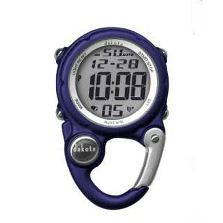 Navy Digital Clip Watch With Alarm And Stopwatch By Dakota