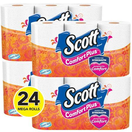 Scott ComfortPlus Toilet Paper, 24 Mega Rolls (= 96 Regular Rolls!) ()