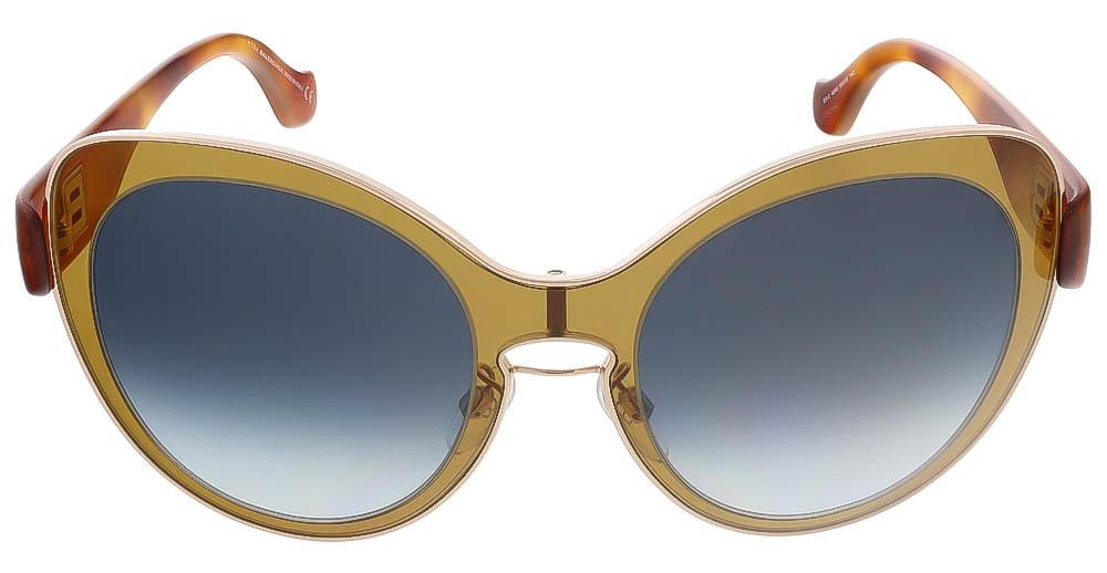 22b87164e477 Balenciaga - Balenciaga Oval Sunglasses BA2 45W Amber Gold Havana BA0002 -  Walmart.com