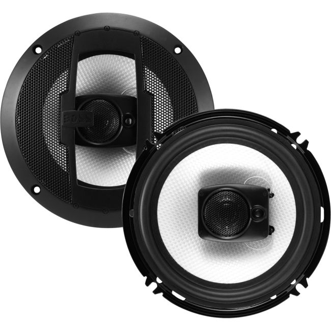 "Boss Audio R63 Riot 6.5"" 3-way 300-watt Full Range Speakers - 100 Hz to 18 Hz - 4 Ohm - 92 dB Sensitivity - Automobile"
