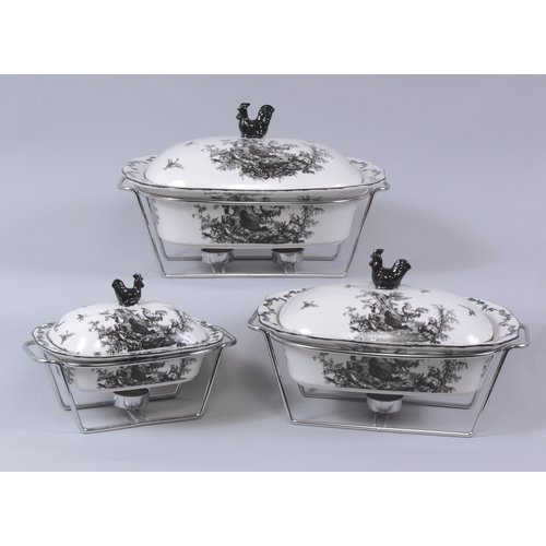 August Grove Polen 3 Piece Chafing Dish Set by