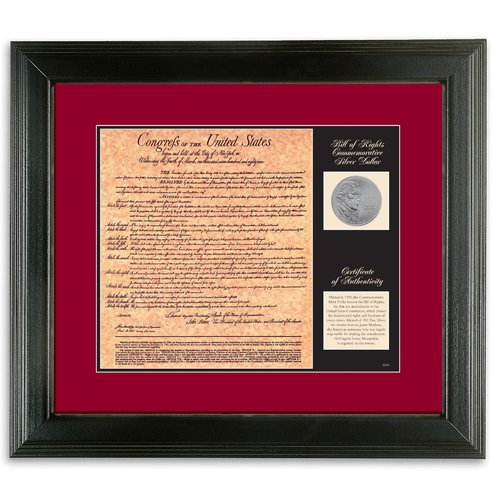 American Coin Treasures Birth of a Nation Bill of Rights Framed Memorabilia