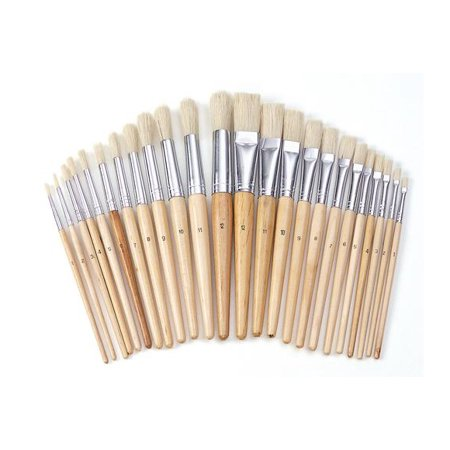 Colorations Best Value Easel Paint Brush Assortment - Set of 24 (Item #
