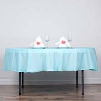 """BalsaCircle 90"""" Round Polyester Tablecloth Table Cover Linens for Wedding Party Events Home Kitchen Dining"""