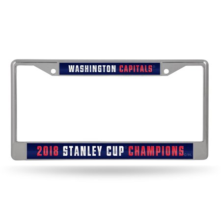 National Champions License Plate - Washington Capitals Official NHL 2018 National Champions License Plate Frame Laser by Rico 390486