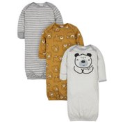 Gerber Baby Boy Gowns, 3-Pack, 0-6 Months