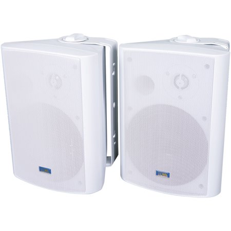 TIC Corporation ASP120W Indoor/outdoor 120-watt Speakers With 70-volt Switching (white) (Bookshelf Speakers With Subwoofer)