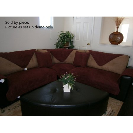O Fit Sectional Sofa Cover Protector Micro Suede Quilted Pads Sold