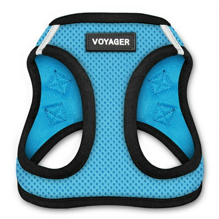 6c3f7b04a Voyager All Weather Step-in Mesh Harness for Dogs by Best Pet Supplies -  Baby Blue Base