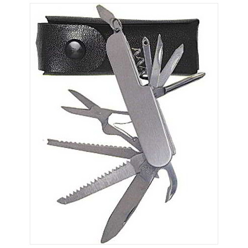 Stainless Steel Multi Function Utility Pocket Knife w/ Carrying Pouch