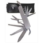 Multi Function Stainless Steel Utility Pocket Knife w/ Carrying Pouch
