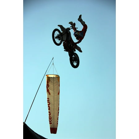 Framed Art for Your Wall Sky Motorcycles Flight Motoristail Extreme Sports 10x13