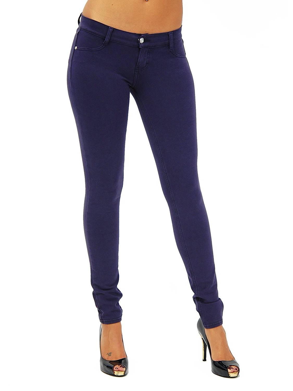 U-Turn Jeans Women's Plus Size Basic Skinny Leg Stretch Soft Moleton Jeggings