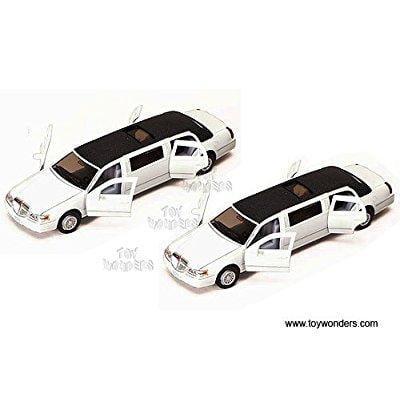 Lincoln Town Car Stretch Limousine (1999, 1/38 Scale Diecast Model Car, White) 1 Vehicle Per