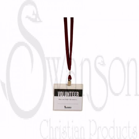 Name Badge Lanyard Maroon  Pack Of 3