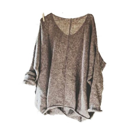 Women's Oversized Knitting Sweater Loose Blouse Pullover Plus Size Tops Shirt by Womens Plus Sweaters