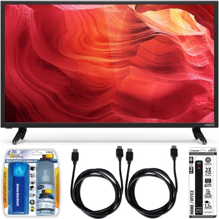 Vizio E48-D0 – 48-Inch SmartCast Full-Array LED 1080p HDTV Essential Accessory Bundle includes TV, Screen Cleaning Kit, 6 Outlet Power Strip with Dual USB Ports and 2 HDMI Cables