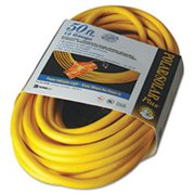 Coc 03487 25 ft.  Polar & Solar Outdoor Extension Cord, Three-Outlets - Yellow