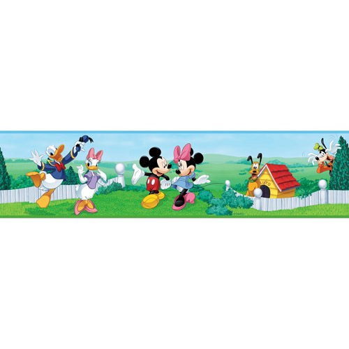 Disney - Peel & Stick Wall Border, Mickey & Friends