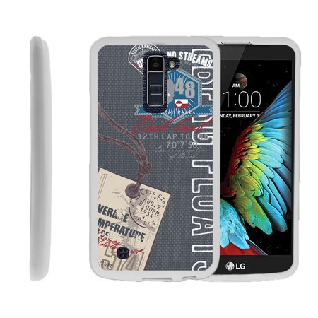 LG K10, LG Premier LTE, K430, Flexible Case [FLEX FORCE] Slim Durable TPU Sleek Bumper with Unique Designs - Greenland Vintage Tag