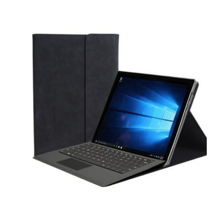 Microsoft Surface Pro 6 Case, Premium PU Leather Sleeve Case Multiple Angle Viewing Folio Cover Compatible with Surface Original Keyboard for Microsoft Surface Pro 6 12.3 Inch - Black Case Sleeve Folio Cover
