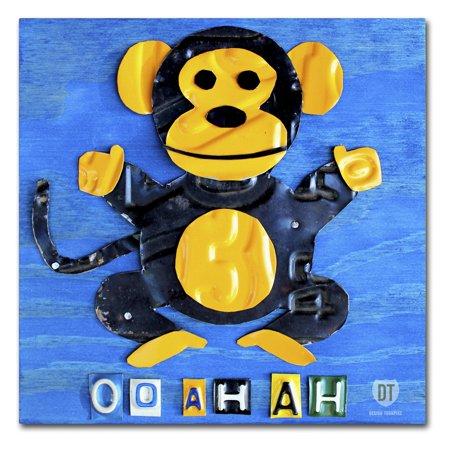 Trademark Fine Art 'Oo Ah Ah the Monkey' Canvas Art by Design