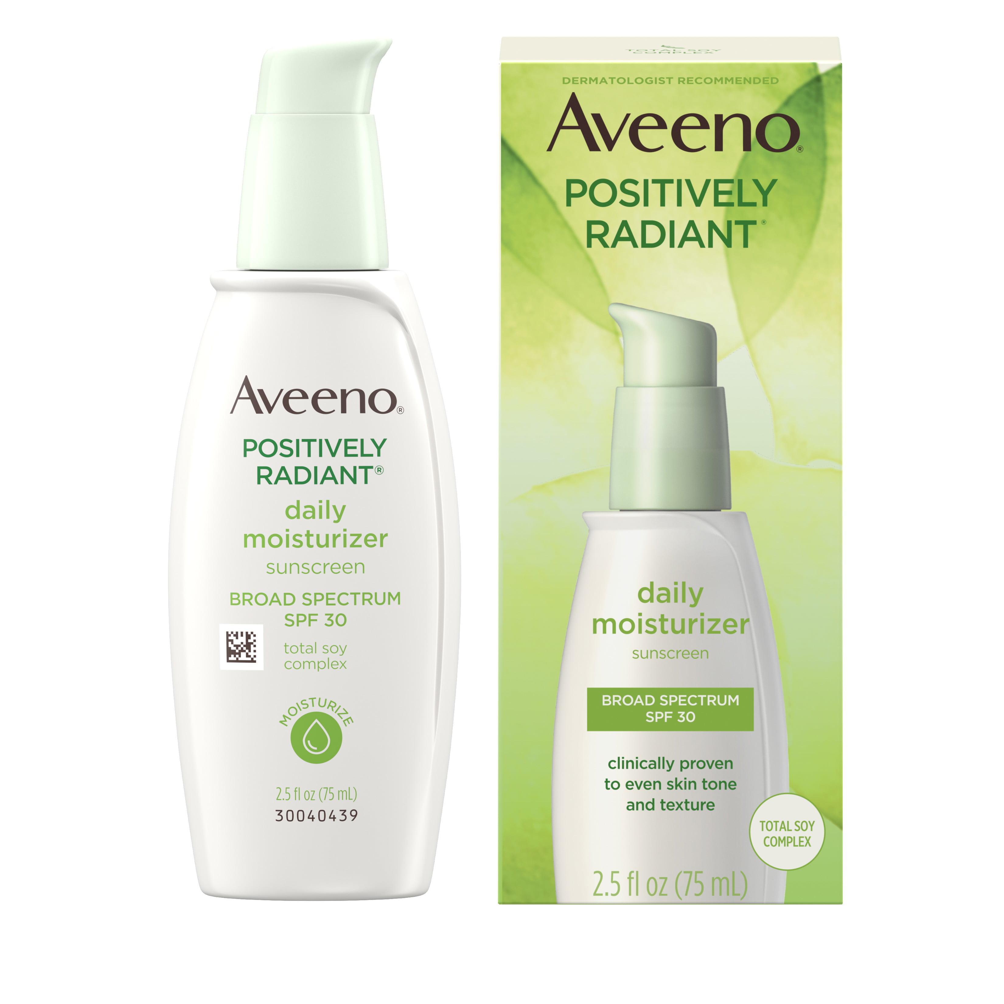 Aveeno Positively Radiant Daily Moisturizer with Soy - 2.5 fl oz - SPF 30