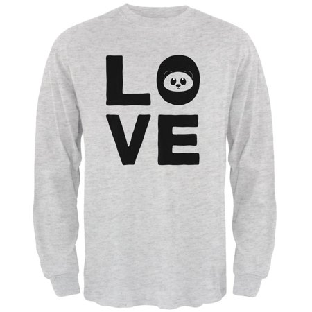 Mens 600 Series (Panda Love Series Mens Long Sleeve T Shirt)