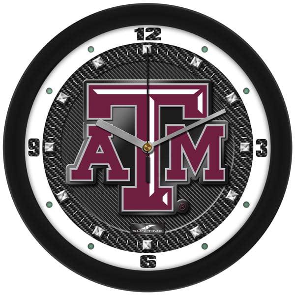 Texas A&M Carbon Fiber Textured Wall Clock