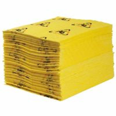 High Visibility Safety And Chemical Absorbent Mat, Absorbs 4 Gal, 30 I