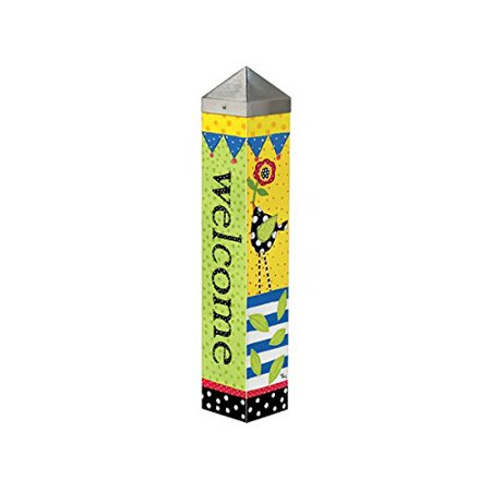 Frolic Welcome Art Pole 20 Lynn Morris 4x4 Spring Summer Painted Peace Pole Frolic Welcome 20 Inch Art Pole By Studio M