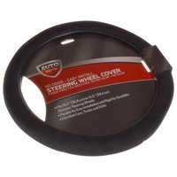 Auto Drive Stress Relief automotive steering wheel cover, black