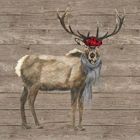 Warm in the Wilderness Deer Poster Print by Tara Reed