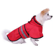 HDE Dog Raincoat Hooded Slicker Poncho for Small to Medium Dogs and Puppies (Red, Small)