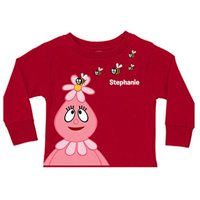 Personalized Yo Gabba Gabba! Foofa Friendly Bees Red Toddler Girls' Long-Sleeve Tee