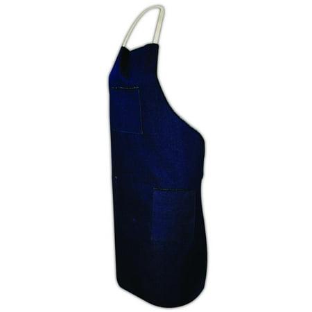 Magid Blue Denim 28 x 36 Apron with Pockets, Each