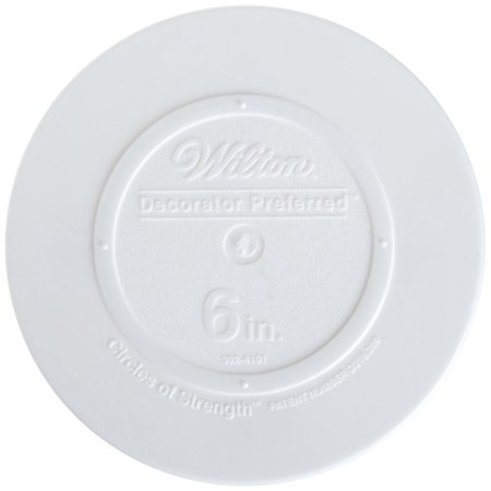 Wilton Decorator Preferred Smooth Edge Plate 6 Inch White Fresh Clean Shape