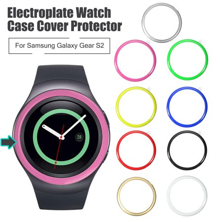 (Stainless Steel Bumper Ring Watch Case Cover Protector For Samsung Gear S2 Bezel)