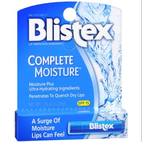 Blistex Complete Moisture Lip Protectant SPF 15 0.15 oz (Pack of 2)