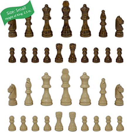 Staunton Chess Pieces by GrowUpSmart with Extra Queens | Size: Small - King Height: 2.5 inch | Wood - image 1 of 4