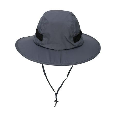 060a31fa Men / Women SPF 50+ UV Protection Safari Sun Hat w/ Adjustable Straps,Grey  - Walmart.com