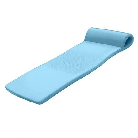 Texas Recreation Sunsation 70 Inch Foam Raft Lounger Pool Float, Metallic Blue