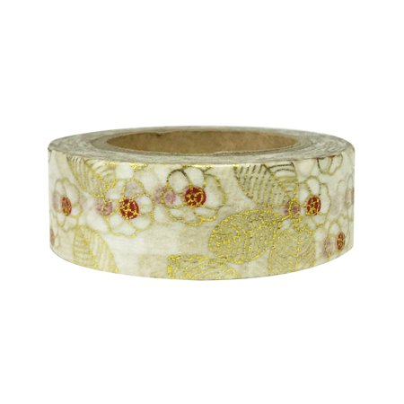 Wrapables® Colorful Washi Masking Tape, Metallic Asian Floral - Colorful Tape